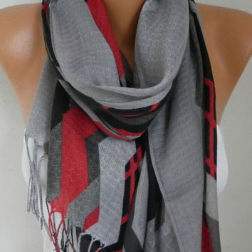 Spring Gray Cotton Scarf Shawl Summer Cowl Oversize Wrap Gift Ideas For Her Women Fashion Accessories Mother Day Gift Women Scarves