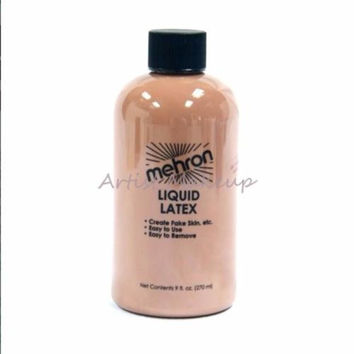 Mehron Liquid Latex Light Flesh Costume Make Up 9 OZ