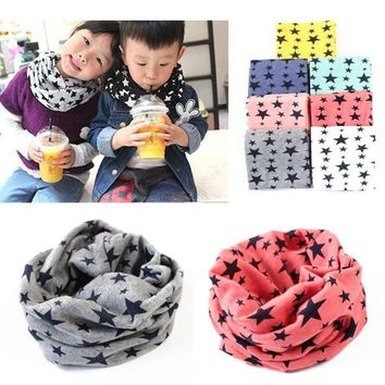 DCCKU7Q Warm Stars Collar Children O Ring Neck Scarves