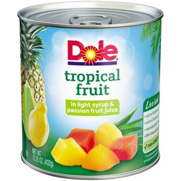 Dole Tropical Fruit in Light Syrup & Passion Fruit Juice 15.25 oz. Can - Walmart.com