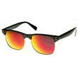 Retro Half Frame Horned Rim Flash Revo Lens Sunglasses 9313