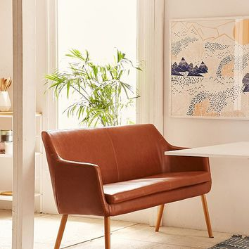 Nora Faux Leather Dining Bench | Urban Outfitters