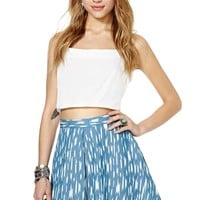Nasty Gal Eliza Chambray Skirt