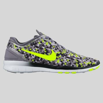 AUGUAU Nike Wmns Free 5.0 TR Fit 5 PRT Cool Grey Black Volt