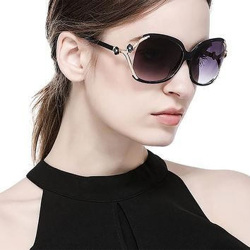 2018 Women's Polarized Oversized Sunglasses Rhinestone Butterfly |50% OFF |Free Shipping
