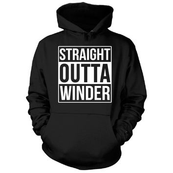 Straight Outta Winder City. Cool Gift - Hoodie