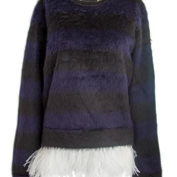 No. 21 Fabiola Sweatshirt With White Feathers