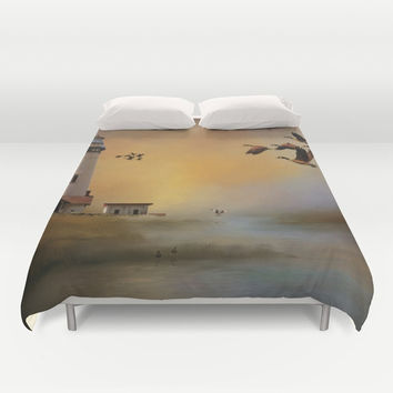 Homeward Bound Duvet Cover by Theresa Campbell D'August Art