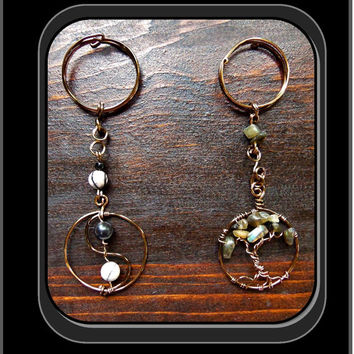 Custom keychains, Keychain, Mens gift ideas, man gift, healing gemstone, keychains for men, father gift, men