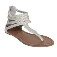 Braided Gladiator Sandal | Shop Shoes at Wet Seal