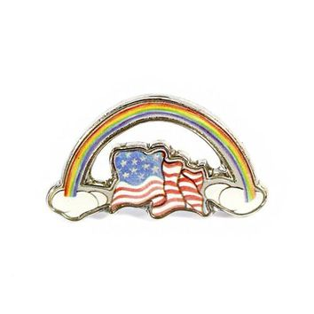 Will Gaynor Rainbow Flag Pin