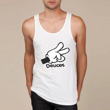 Mickey Mouse Hands Deuces Tank Top