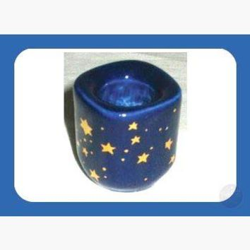 Cobalt Ceramic Starry Chime Candle Holder