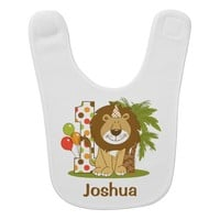 Cute Lion 1st Birthday Baby Bibs