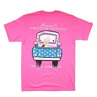 Preppy Freedom Tee by Simply Southern