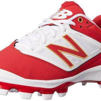 DCCK1IN new balance pl4040v3 tpu molded cleats low cut red white