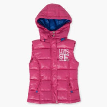 Girls' Levi's Little (4-6x) Valarie Puffer Vest - Ultra Pink - Kids