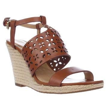 MICHAEL Michael Kors Darci Wedge Sandals, Luggage, 10 US / 41 EU