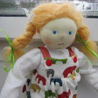 "Our ecological soft doll Diana in Waldorf style 14"",  OOAK, collectors doll, collectible art doll"