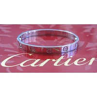 Cartier 18Kt Love Bracelet White Gold Size 20 GD4591