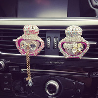 Car Perfume Crystal Car vent clip, car air freshener, car interior, car accessory, Crystal Perfume Bottle Car Decal
