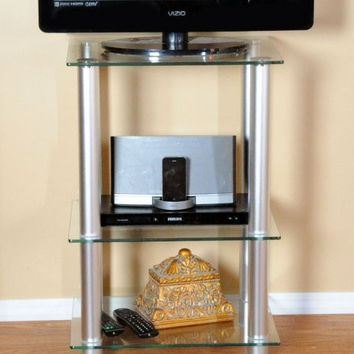 29 5 Inch Extra Tall Glass and Aluminum LCD and Plasma TV Stand  Clear. Best Extra Tall Tv Stands Products on Wanelo