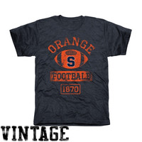 Syracuse Orange Vintage Goal Tri-Blend T-Shirt - Navy Blue