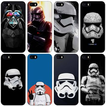 storm trooper star wars Black Plastic Case Cover Shell for iPhone Apple 4 4s 5 5s SE 5c 6 6s 7 Plus