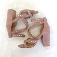 Francesca Studded Heels in Mauve