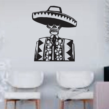 Day of the Dead Man Skull Wall Vinyl Decal Sticker Art Graphic Sticker Sugar Skull Sugarskull