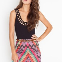 Rainbow Tribe Skirt in  Clothes at Nasty Gal