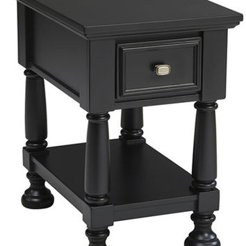 0-025475>Landiburg End Table Black