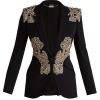 Crystal and beaded blazer | Alexander McQueen | MATCHESFASHION.COM UK