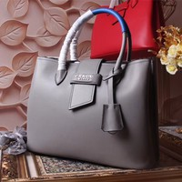 PRADA WOMEN'S 2018 NEW STYLE LEATHER HANDBAG INCLINED SHOULDER BAG