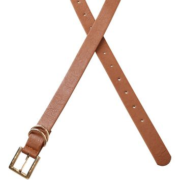 Brown Vegan Leather Belt | NRFB