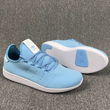 Adidas Pharrell Williams Women Light blue Weave Running Sneaker