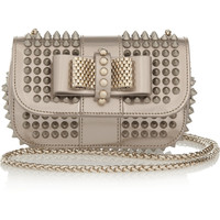 Christian Louboutin - Sweety Charity mini spiked metallic leather shoulder bag