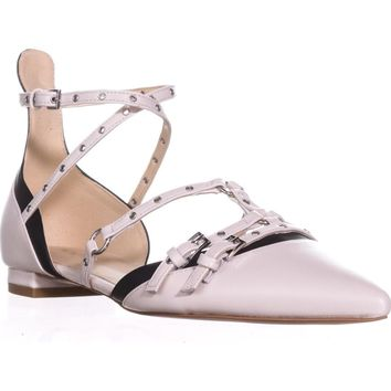 Nine West Aweso Pointed-Toe Ballet Flats, Off Whit Multi, 8 US