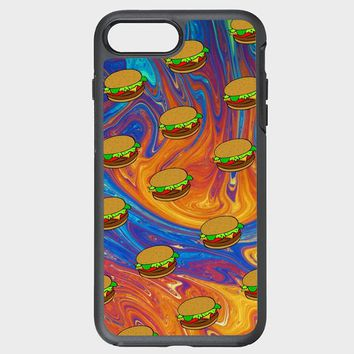 Custom iPhone Case burger pattern phone case snw