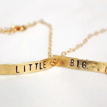 Big and Little Sorority Bracelet Set of Two