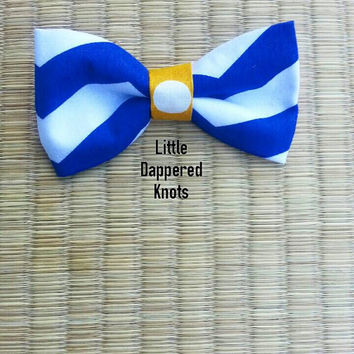Blue and white boys bowtie, boys Bowties, Boys Bow ties, Kids Bowties,  Boys Bowties, chevron bowtie, girls Bows, Headbands moustache, bow