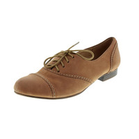 Naturalizer Womens Lonnie Leather Toe Cap Oxfords