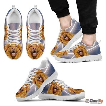 Customized Dog Print (White/Black) Running Shoes For Men - Free Shipping Limited Edition