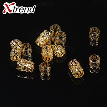 Xtrend 200pcs/lot beauty candy color Dreadlock Beads Adjustable Aluminum metal  Hair Rings for Braiding Dreadlock Rings 9color