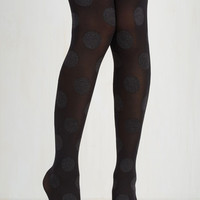 Pinup Dressed to Dance Tights in Noir Size OS by ModCloth