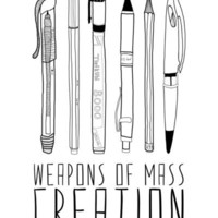 weapons of mass creation Stretched Canvas by Bianca Green | Society6