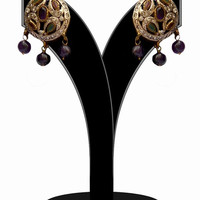 Gorgeous Multicolored Stones Round Earrings for Women