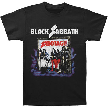 Black Sabbath Men's  Sabotage Vintage T-shirt Black