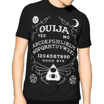 New! Ouija Board T Shirt Black Kill Occult Spirit Pentagram Star Gothic Seance