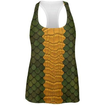 CREYCY8 Halloween Green Dragon Costume All Over Womens Work Out Tank Top